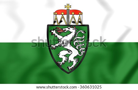 3D Flag of Styria Bundesland, Austria. Close Up.    - stock photo