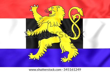 3D Flag of the Benelux.   - stock photo