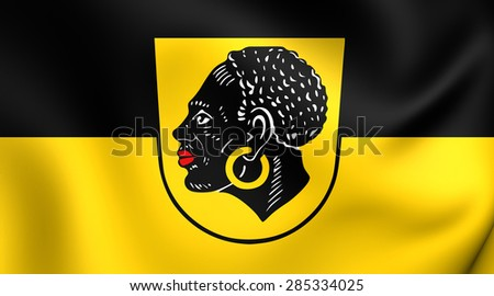 3D Flag of the Coburg, Germany. Close Up.    - stock photo