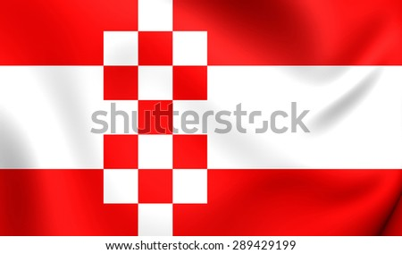 3D Flag of the Hamm, Germany. Close Up.    - stock photo