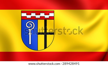 3D Flag of the Monchengladbach, Germany. Close Up.    - stock photo