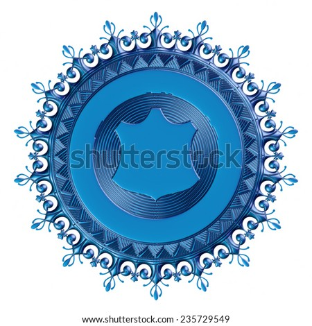 3D floral ornament elements on isolated white background.