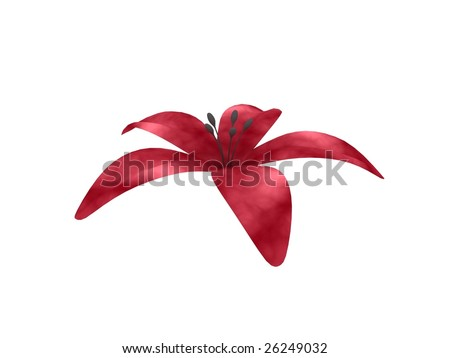 3d flower - stock photo