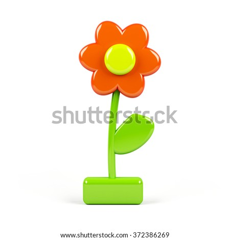3d flower isolated on white - stock photo