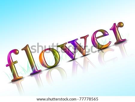 3d flowers, 3d color - stock photo