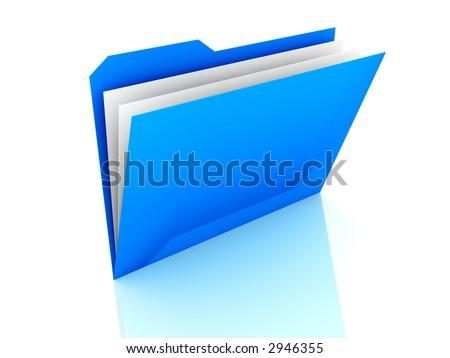 3d Folder - stock photo