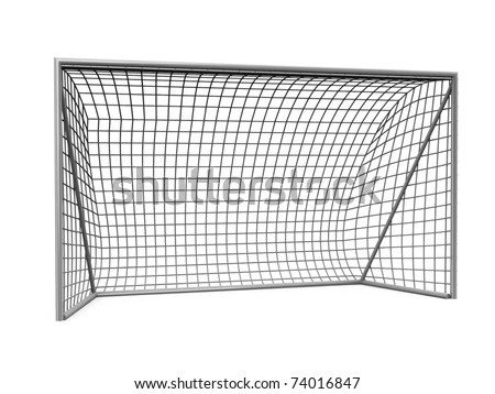 3d  football goals - stock photo