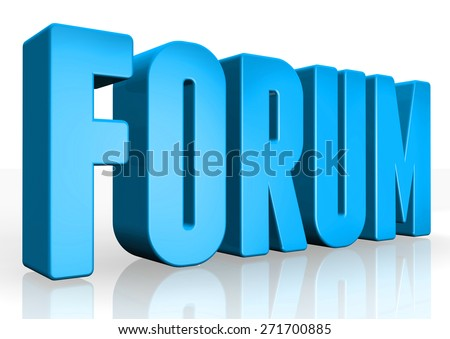 3D forum text on white background - stock photo