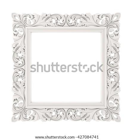 3d frame on white background - stock photo