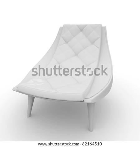 3d furniture detailed chair isolated on white