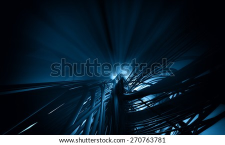 3D futuristic background - stock photo