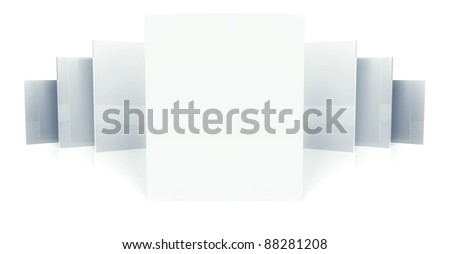 3d gallery copyspace, isolated on white - stock photo