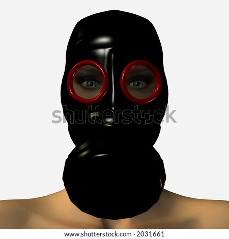 3D Gas Mask - stock photo