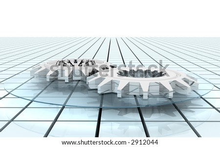 3d--gear - stock photo