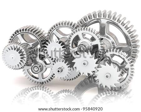 3d gears - stock photo