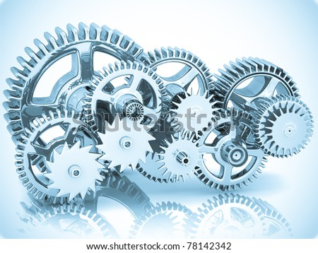 Blue Gears Engineering Technology Backdrop Stock Photo 918161 ...