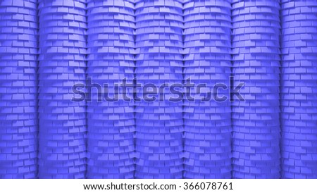 3d generated abstract background, rendered surface with brick displacement facture