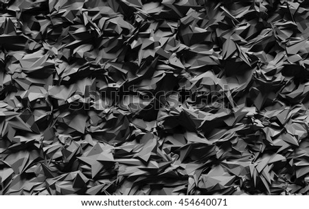 3D generated dark gray color abstract abrasive background - stock photo