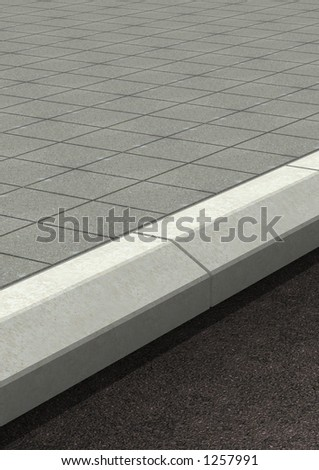 3D generated street, high-res. - stock photo