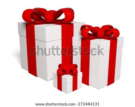 3D. Gift, Gift Box, Box. - stock photo