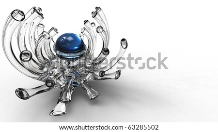 3d Glass abstraction - stock photo