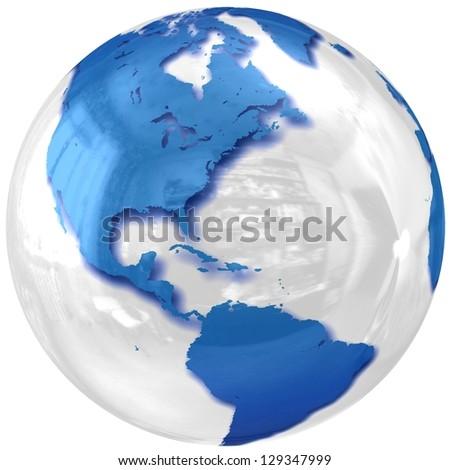 3D glass Globe. - stock photo