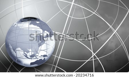 3D Glass Globe in the Color Grey