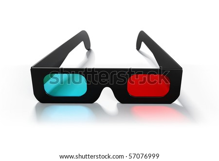 3d glasses - stock photo