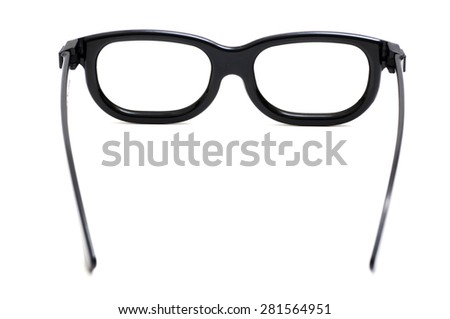3D Glasses, back view, isolated. - stock photo