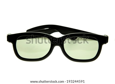 3D glasses isolate
