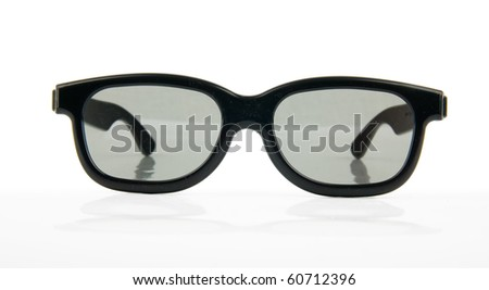 3d glasses isolated in white background - stock photo