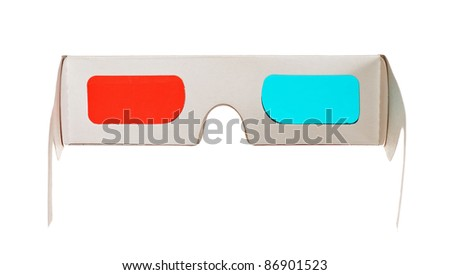 3d glasses isolated on the white background - stock photo