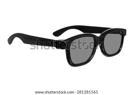 3D Glasses on Isolated White Background - stock photo