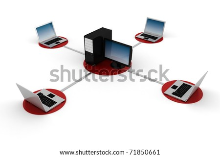 3d global network - stock photo