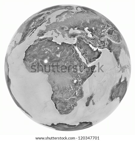 3D Globe. Elements of this image furnished by NASA