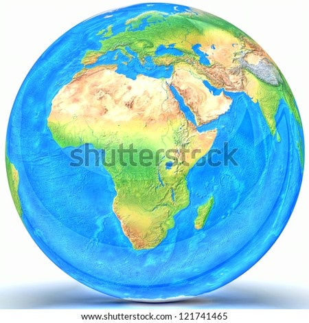 3D Globe. Elements of this image furnished by NASA - stock photo