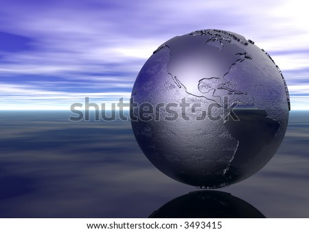 3D Globe: the Americas - stock photo