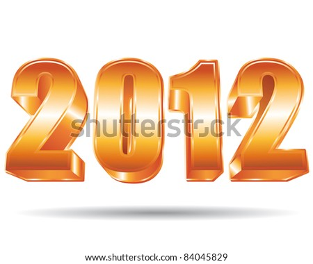 3D Golden 2012. - stock photo