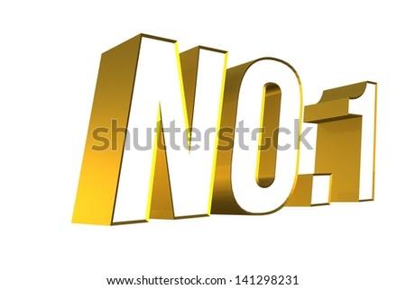 3D golden word NO.1 - stock photo