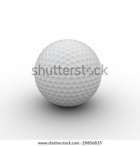 3d golf ball - stock photo
