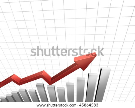 3D graph on white background
