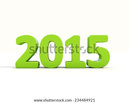 3D graphics: the new 2015 year. Figures shiny, there is a light shadow - stock photo