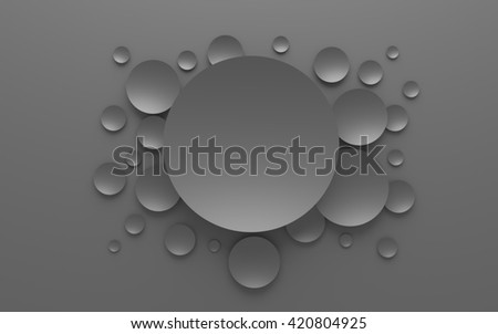3D  gray abstract composition on a gray background - stock photo