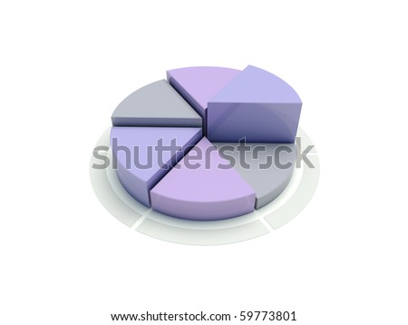 3d gray and blue circular diagram on white