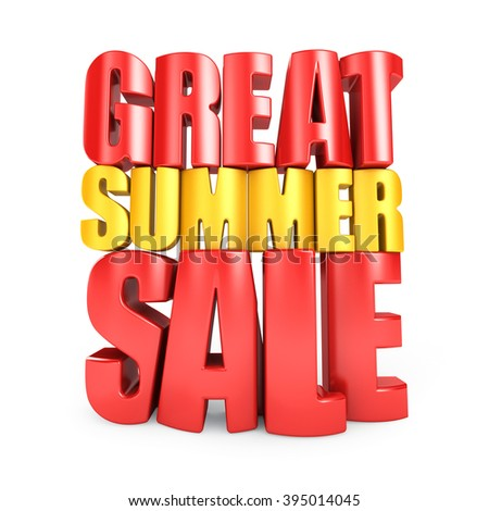3D Great summer sale - stock photo
