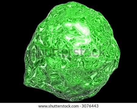 3D Green Abstract - stock photo