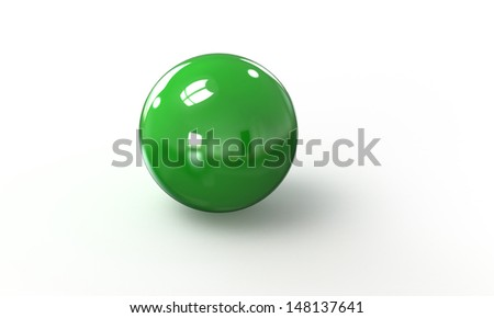3d green ball sphere  isolated on white - stock photo