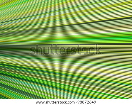 3d green color abstract striped backdrop render - stock photo