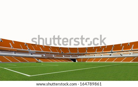 3d green stadium - stock photo