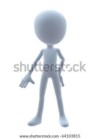 3D guy on a white background